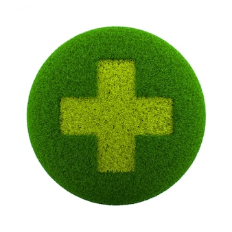 Grass sphere medical icon