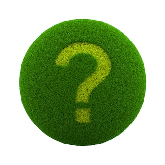 Grass sphere question icon