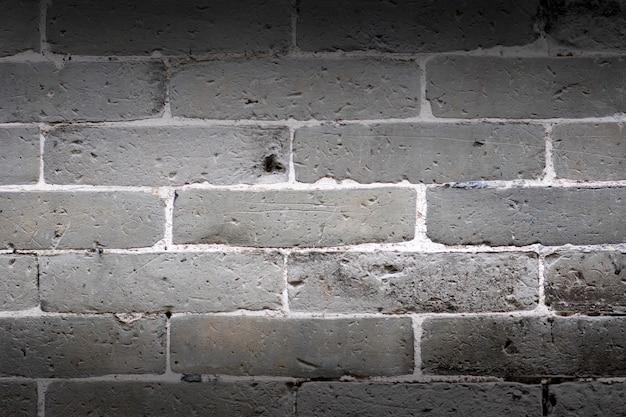 Graue backsteinmauerbeschaffenheit und -hintergrund.