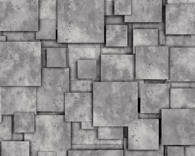 Graue betonwand als hintergrund. 3d-rendering.