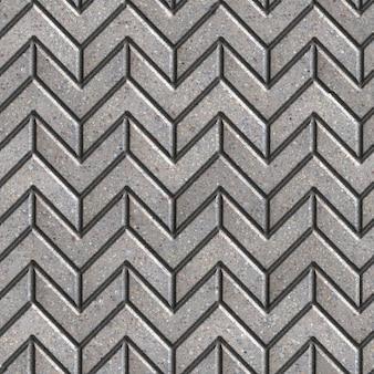 Graue fahrbahn als pfeile in verschiedene richtungen. nahtlose kippbare textur.