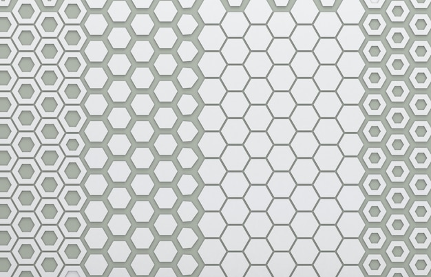 Graue hexagongraphik für hintergrund