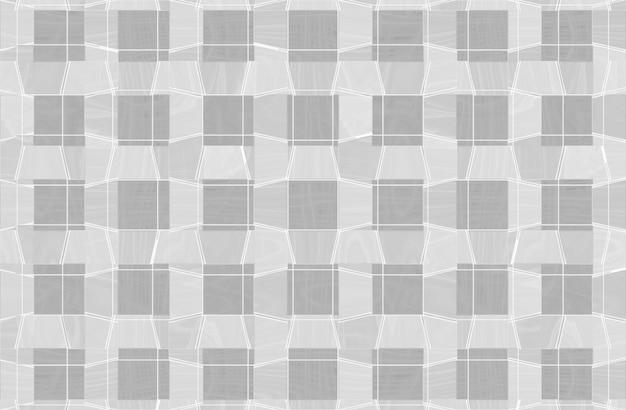 Graue und weiße grafische linie musterhintergrund des quadratischen gitters.