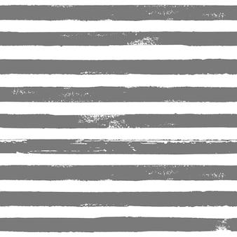Graue und weiße grunge abstrakte handgezeichnete gestreifte nahtlose muster