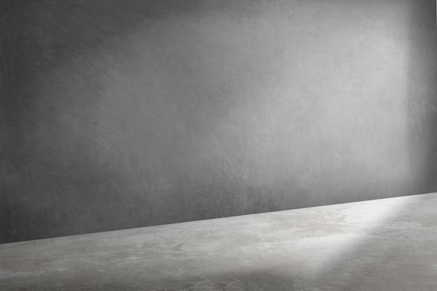 Grauer 3d-produkthintergrund im loft-stil mit schatten