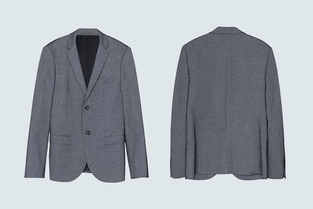 Grauer blazer freizeitkleidung für herren