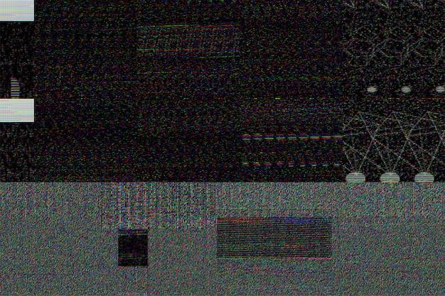 Grauer gemusterter hintergrund mit glitch-effekt