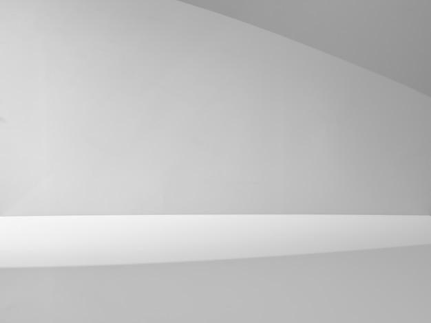 Grauer hintergrund mit lichtstrahl für produktpräsentation