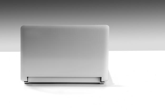 Grauer laptopabschluß oben noch mit kopienraum