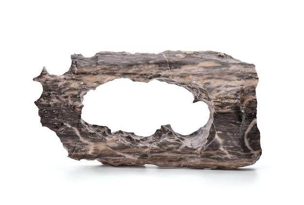 Grauer schwarzer marmor lokalisiert auf weiß mit beschneidungspfad.