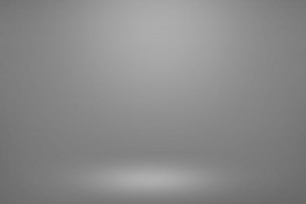 Grauer steigungsraumhintergrund. innenraum mit leerem raumlicht für ihre kreativ- und show-präsentation ihrer produkte.