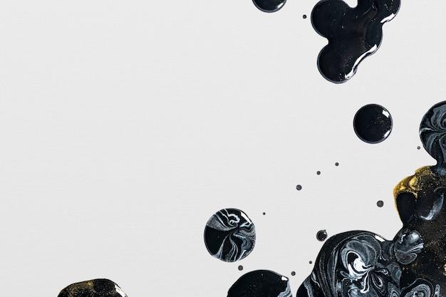 Grauer und schwarzer flüssiger marmorhintergrund