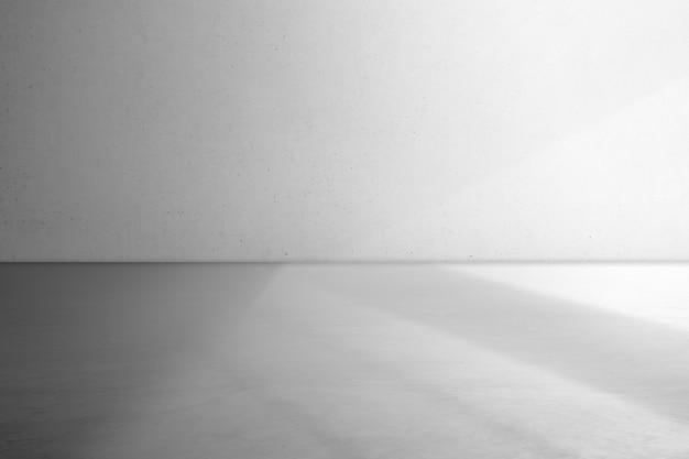 Grauer wandhintergrund in einem leeren studio