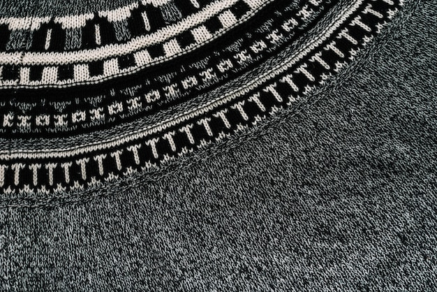 Graues muster textil