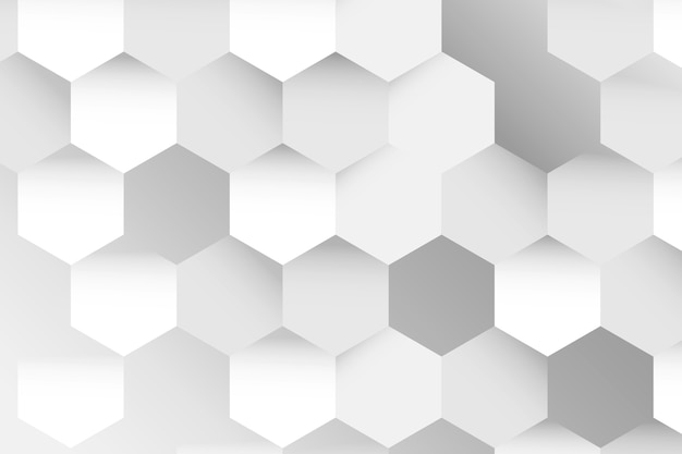 Graues sechseck gemustertes hintergrunddesign
