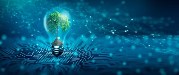 Green computing green technology green it csr und it-ethik-konzept