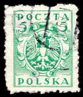 Green eagle crest briefmarke