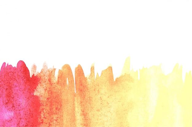 Grenze der abstrakten aquarellkunsthandfarbe auf weißem hintergrund. aquarell hintergrund