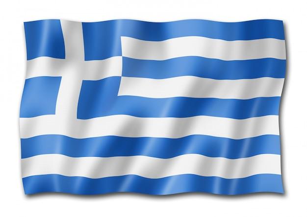 Griechische flagge isoliert