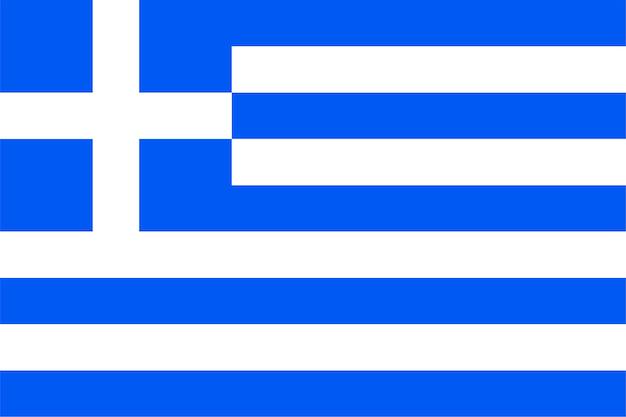 Griechische flagge von griechenland