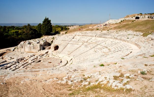Griechisches theater, neapolis von syrakus in sizilien