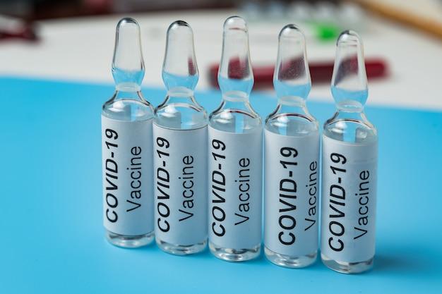 Grippe-coronavirus-impfstoff. medizin für covid-19. behandlung von corona-virus