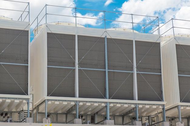 Größere kaltwassersätze auf dem dach von klimaanlagen für große industrie-luftkühlsysteme