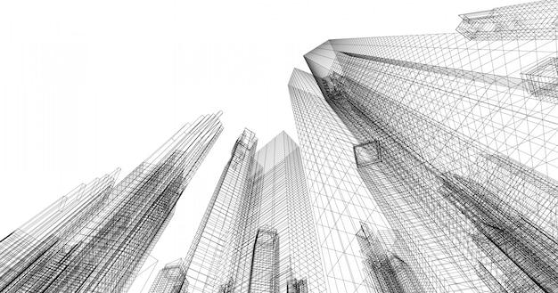 Größeres handels- und investitionszentrum es ist das zentrum von büros, banken, wohnhäusern, hotels und einkaufszentren