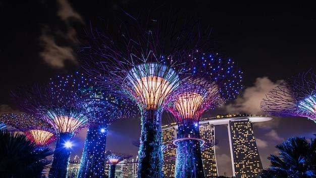 Großartige und prächtige stadtgärten singapurs.