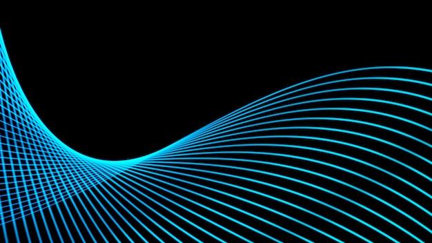 Große daten. futuristischer technologieblauhintergrund. cyber-technologie