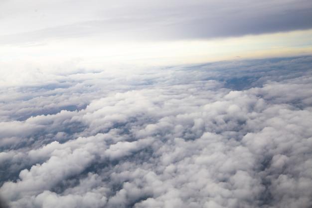 Große graue wolken der nahaufnahme.