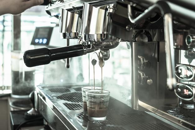 Große kaffeemaschine zwei kopf elegant