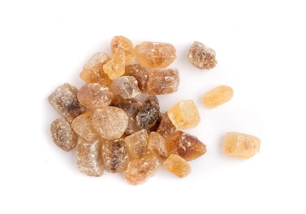 Große kristalle aus rohrzucker