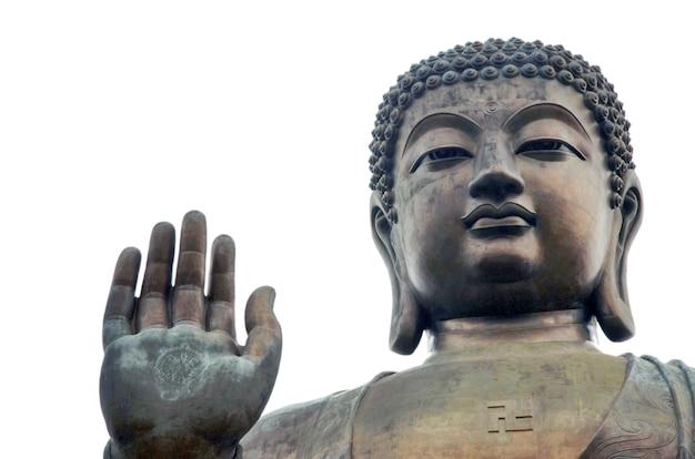Großer buddha auf der insel lantau
