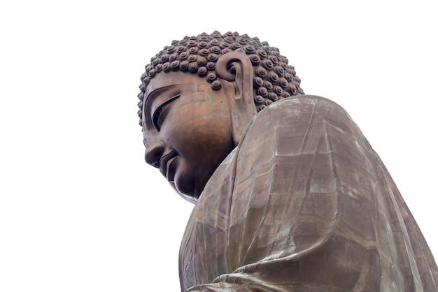 Großer buddha auf lantau-insel, getrennt