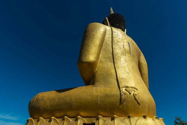 Großer buddha im tempel des mekong.