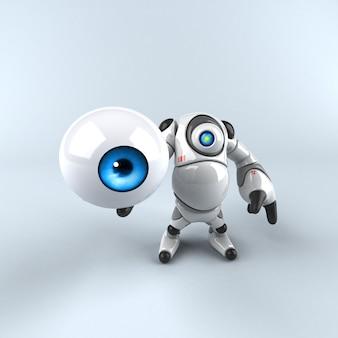 Großer roboter - 3d-charakter