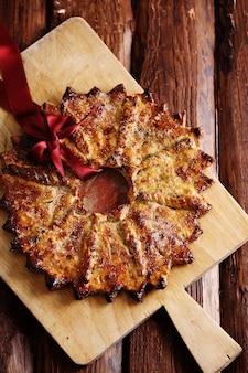 Großer weihnachtsstern, ein traditionelles dessert