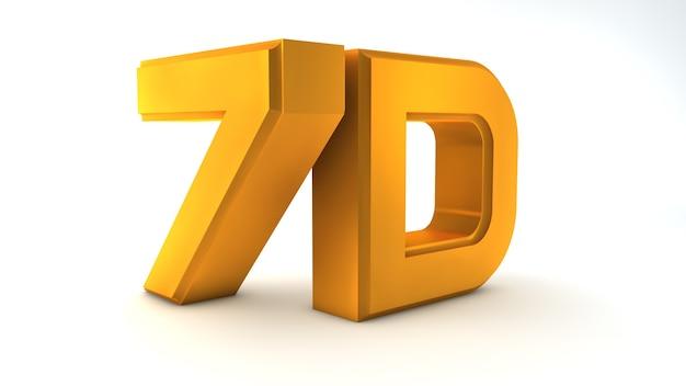 Großes dreidimensionales logo auf weißem, isoliertem, mattem hintergrund. mattgold. video 8k-logo.