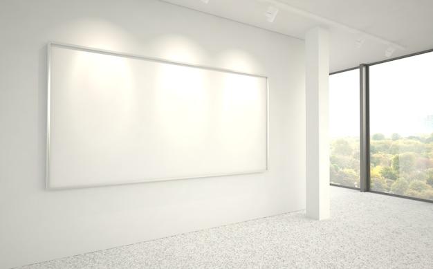 Großes horizontales rahmenplakat in der bürohalle