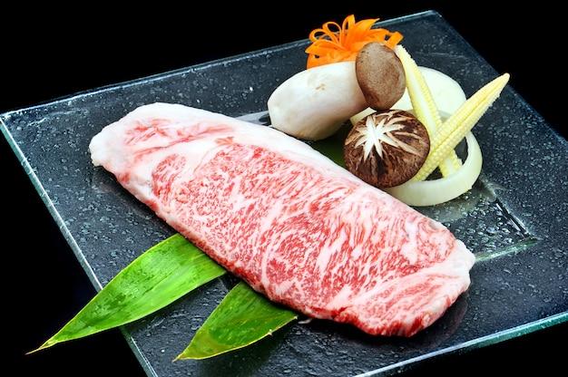 Großes japanisches wagyu rindfleisch