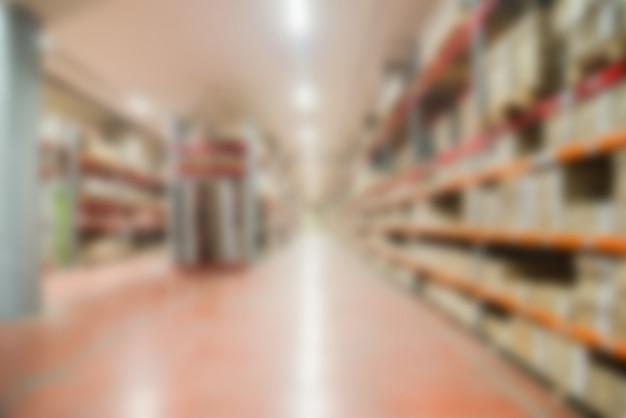 Großes modernes warehouse thema unschärfe hintergrund