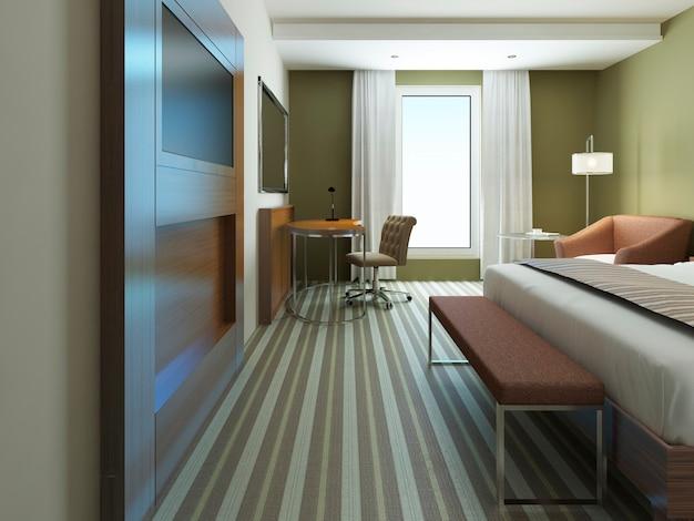 Großes schlafzimmer im minimalistischen stil