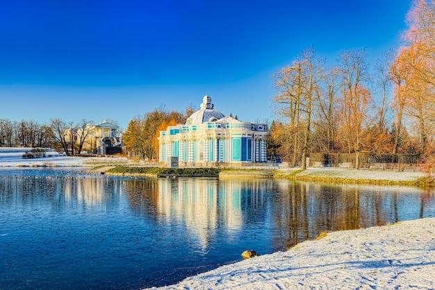 Grotten-pavillon in zarskoje selo (puschkin) vorort von sankt petersburg. russland.