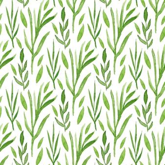 Grün lässt aquarell nahtlose muster. kann für die verpackung und verpackungsgestaltung verwendet werden.