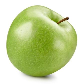 Grüne äpfel lokalisiert auf weißem hintergrund