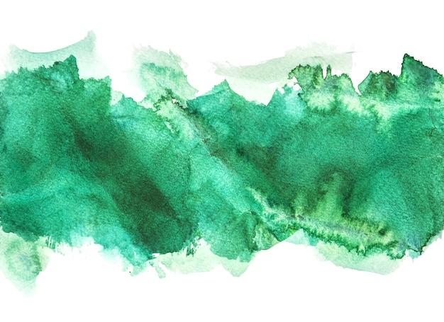 Grüne aquarell hintergründe, handmalerei