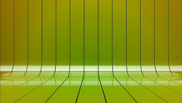 Grüne bänder stellen 3d illustration dar.
