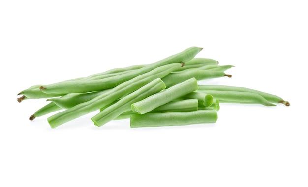 Grüne bohnen isoliert