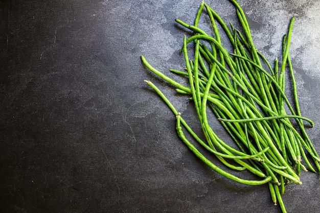 Grüne bohnen rohe hülsenfrüchte bio essen